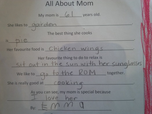 All About My Mom by Emma for Mothers Day 18