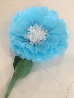 blue dahlia paper flower